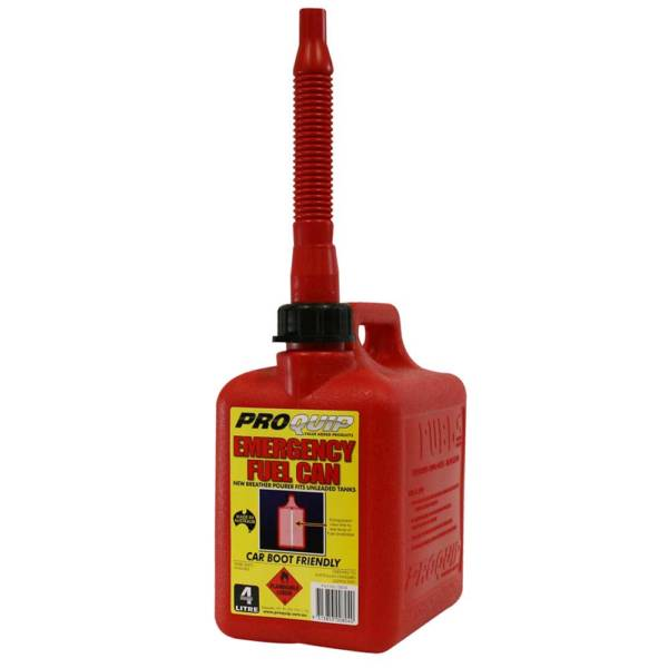 4L Emergency Plastic Can with Breather Pourer