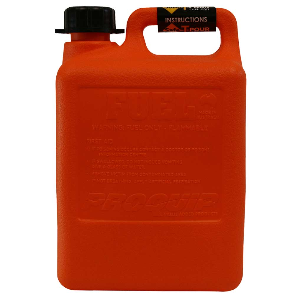 5L Safe-T-Pour Fuel Can Side