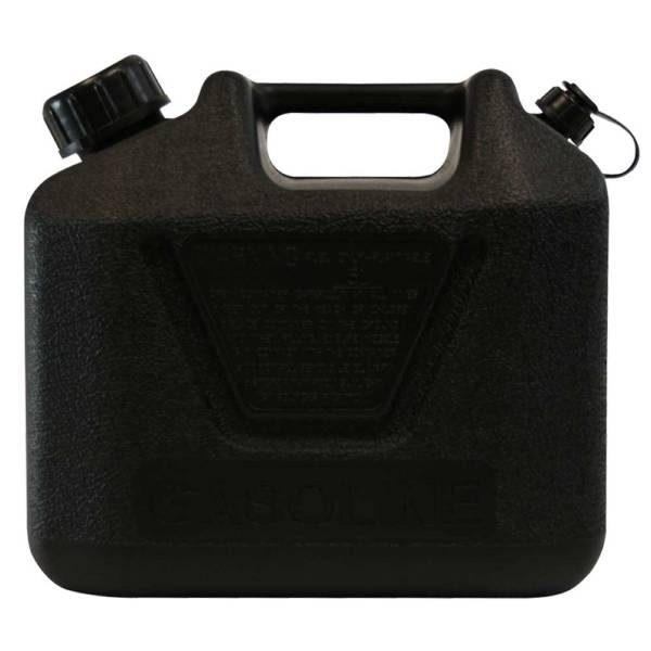 5L Black Plastic Can for Oil with Pourer Side