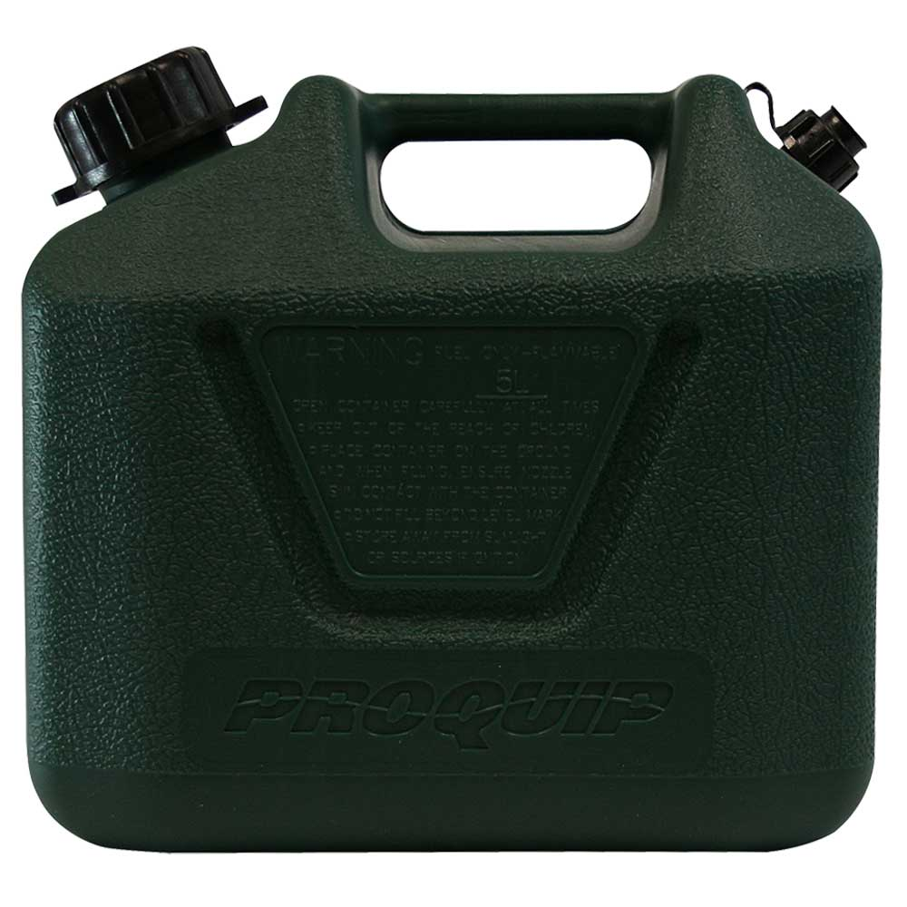 5L Dark Green Plastic Can for 2 Stroke 25:1 Fuel with Pourer Side