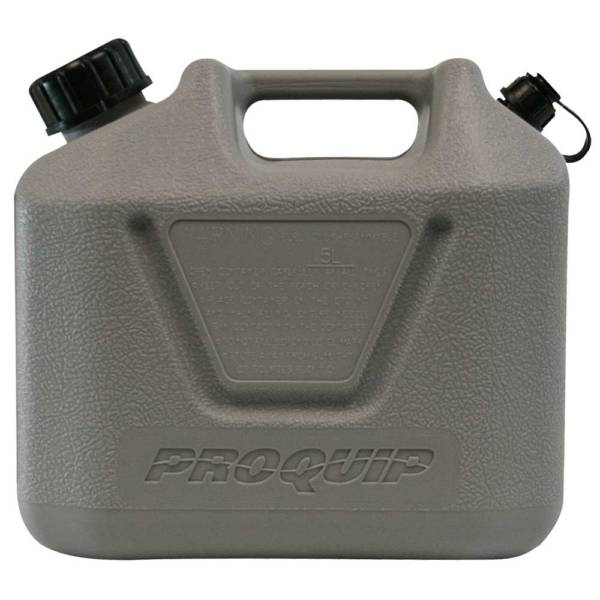 5L Grey Plastic Can for 2 Stroke 50:1 Fuel with Pourer Side