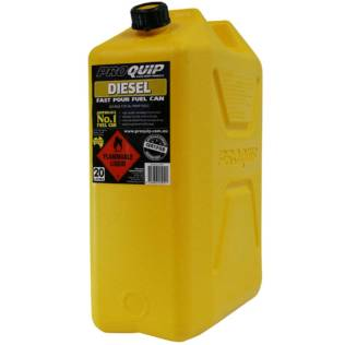 20L Yellow Plastic Diesel Fuel Can Front