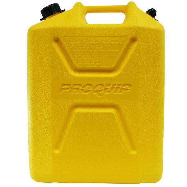 20L Yellow Plastic Diesel Fuel Can Side