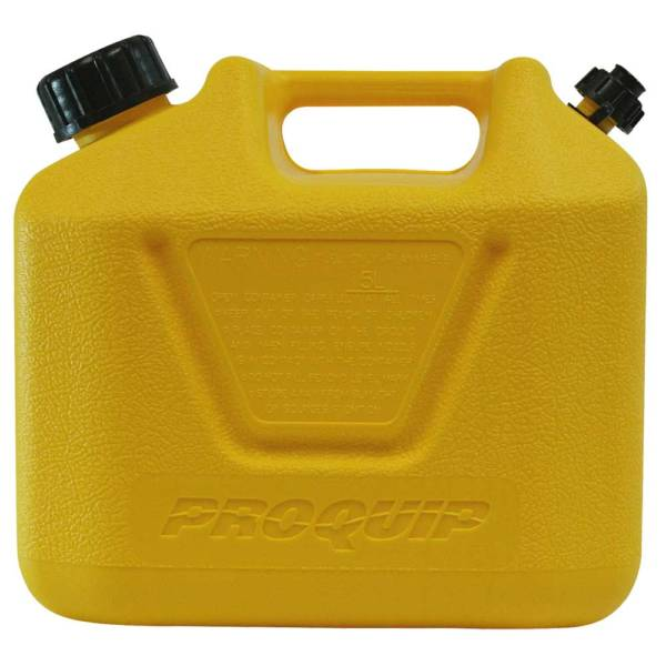 5L Yellow Plastic Diesel Fuel Can with Pourer Side
