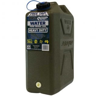 22L Wide Mouth Heavy Duty Water Jerry Can with Tap Front