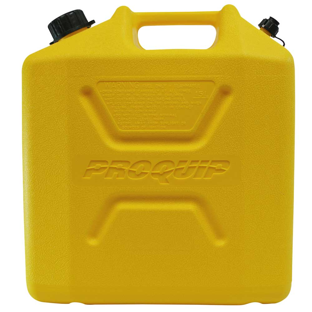 15L Yellow Plastic Diesel Fuel Can Side