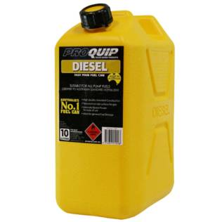 10L Yellow Plastic Diesel Fuel Can Front