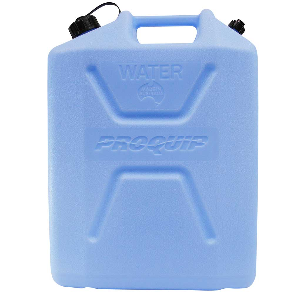 22L Light Blue Plastic Water Jerry Can with Tap Side