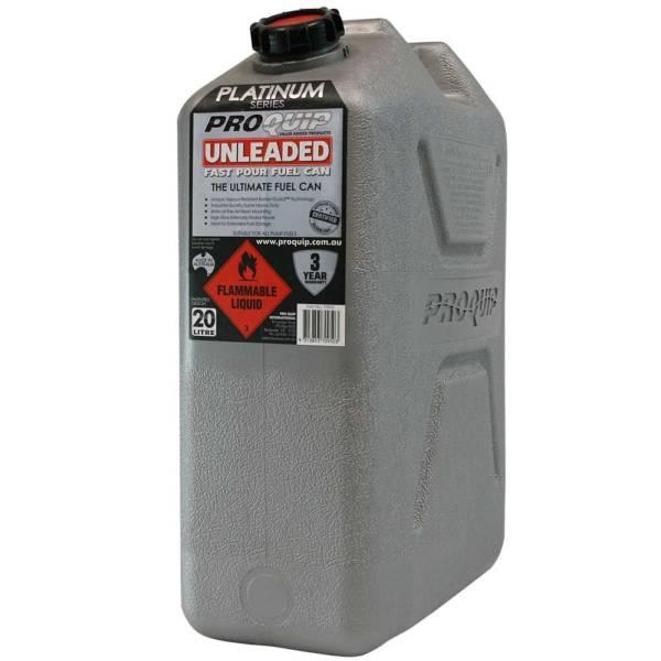 20L Platinum Series Plastic Unleaded Fuel Can Front