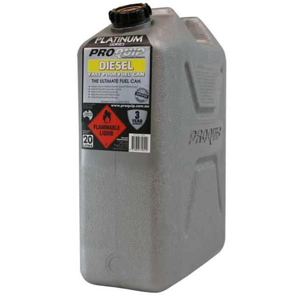 20L Platinum Series Plastic Diesel Fuel Can Front