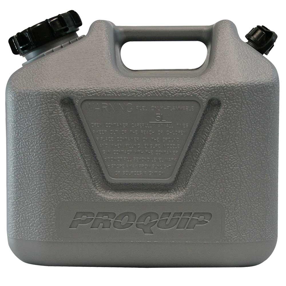 5L Platinum Plastic Fuel Can with Unleaded Pourer Side