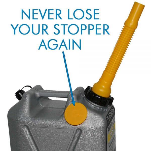 5L Platinum Plastic Fuel Can with Diesel Pourer_Storage_Nub_2
