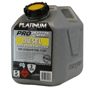 5L Platinum Plastic Fuel Can with Diesel Pourer Front