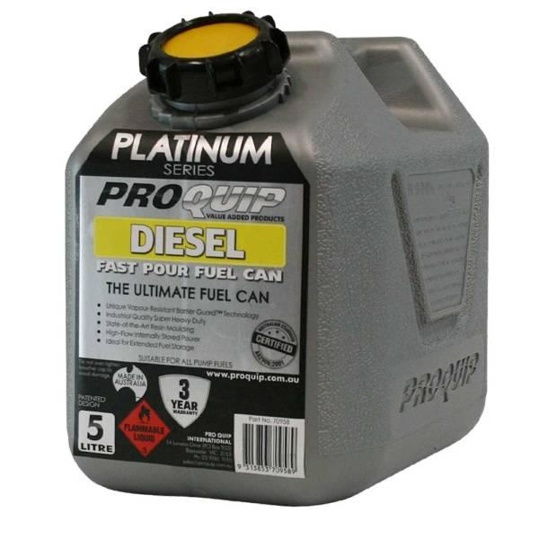 5L Platinum Plastic Fuel Can with Diesel Pourer Front