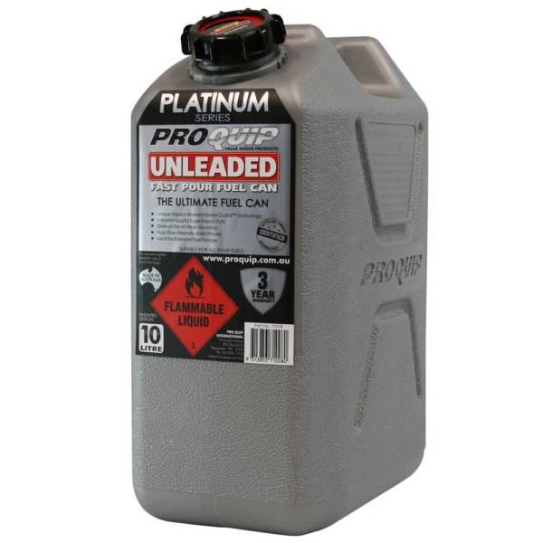 10L Platinum Series Plastic Unleaded Fuel Can Front