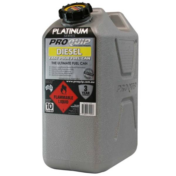 10L Platinum Series Plastic Diesel Fuel Can Front