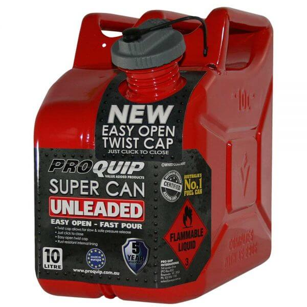 10L Unleaded Super Can with Twist Cap Front