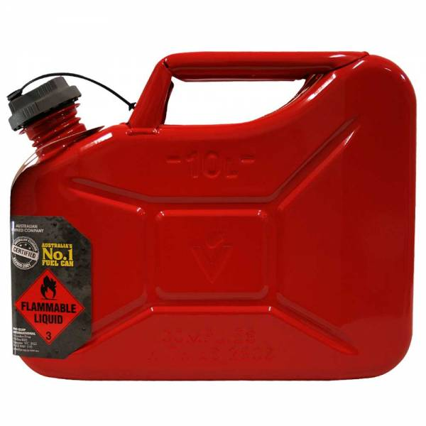 10L Unleaded Super Can with Twist Cap Side