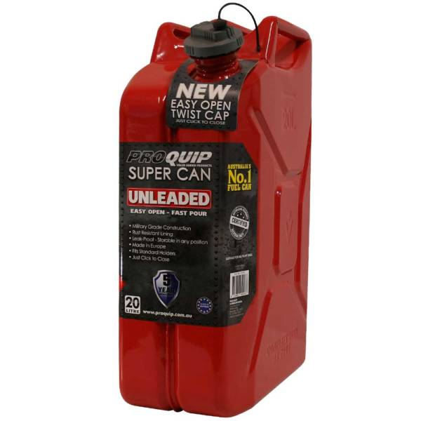 20L Unleaded Super Can with Twist Cap Front