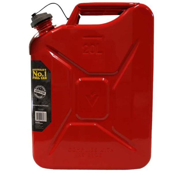 20L Unleaded Super Can with Twist Cap Side
