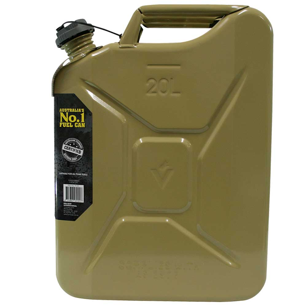 20L Diesel Super Can with Twist Cap Side