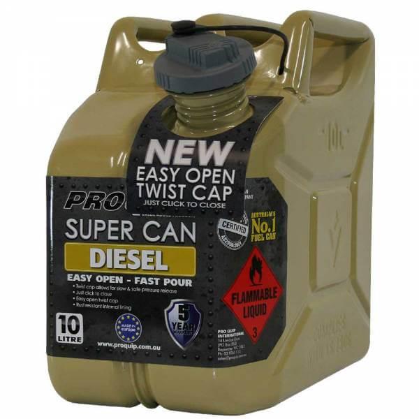 10L Diesel Super Can with Twist Cap Front