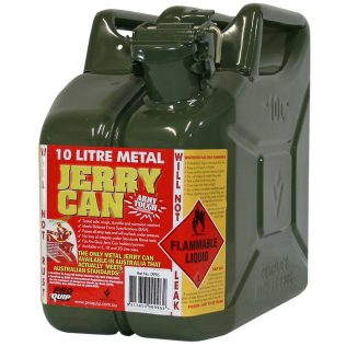 10L Army Green AFAC Metal Jerry Can Front