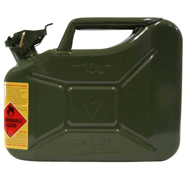 10L Army Green AFAC Metal Jerry Can Side