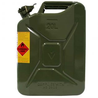 20L Army Green AFAC Metal Jerry Can Side