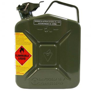 5L Army Green AFAC Metal Jerry Can Side