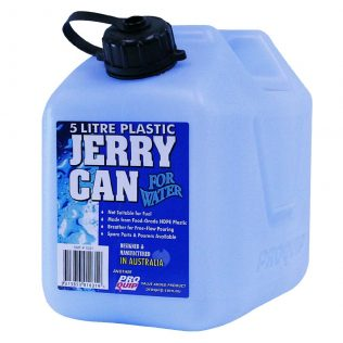 5L Light Blue Plastic Water Jerry Can Front