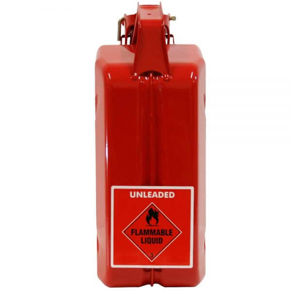 5L Red Unleaded AFAC Metal Jerry Can Back
