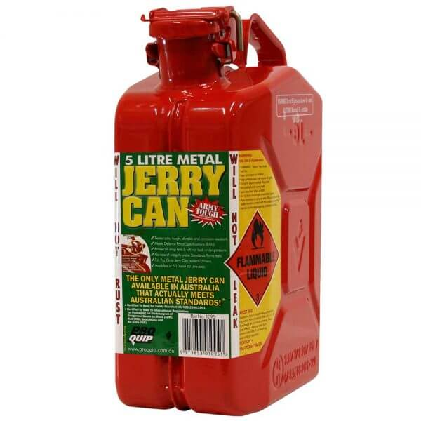 5L Red Unleaded AFAC Metal Jerry Can Font