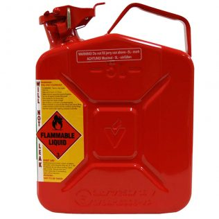 5L Red Unleaded AFAC Metal Jerry Can Side
