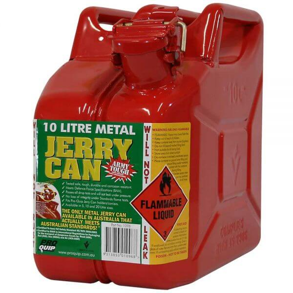 10L Unleaded AFAC Metal Jerry Can Front