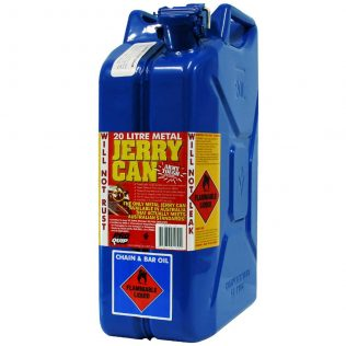 20L Chain & Bar Oil AFAC Metal Jerry Can Front