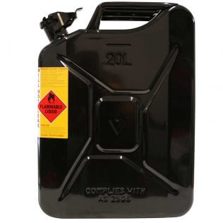 20L Oil AFAC Metal Jerry Can Side