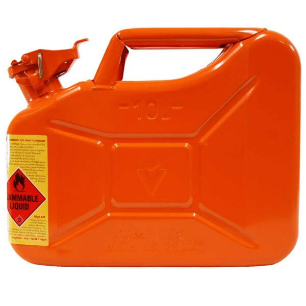 10L Ethanol AFAC Metal Jerry Can Side