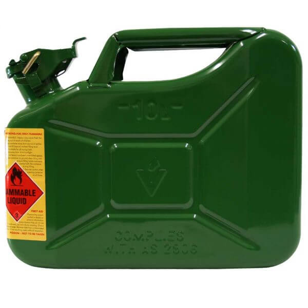 10L Drip Torch AFAC Metal Jerry Can Side