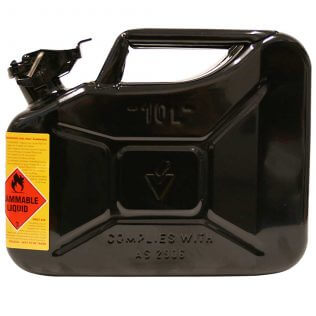 10L Oil AFAC Metal Jerry Can Side