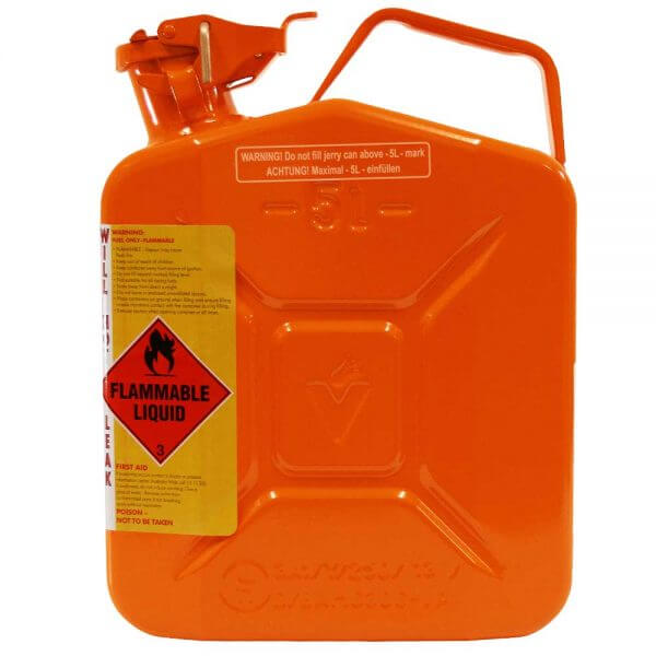 5L Ethanol AFAC Metal Jerry Can Side