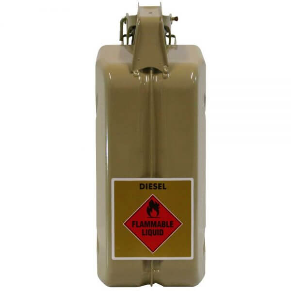 5L Diesel AFAC Metal Jerry Can Back