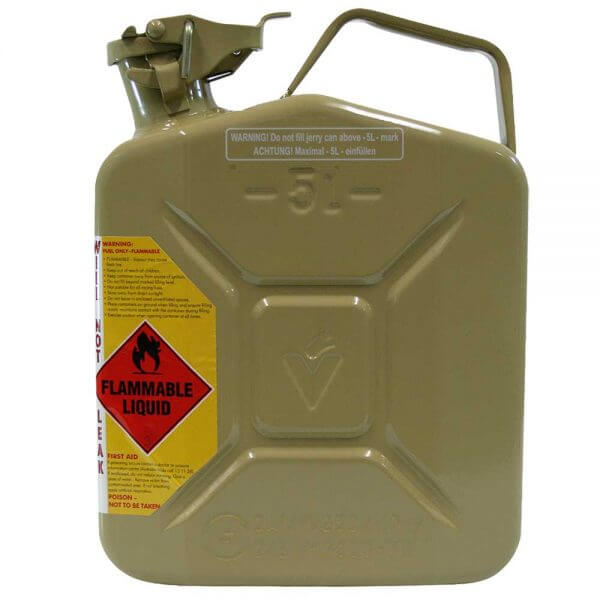 5L Diesel AFAC Metal Jerry Can Side