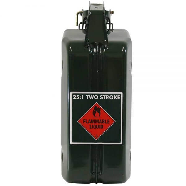 5L 2 Stroke 25:1 AFAC Metal Jerry Can Back