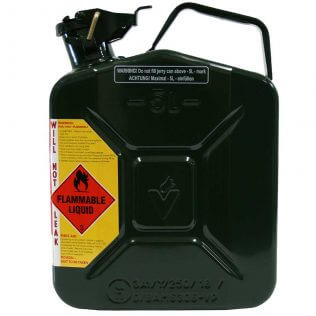 5L 2 Stroke 25:1 AFAC Metal Jerry Can Side