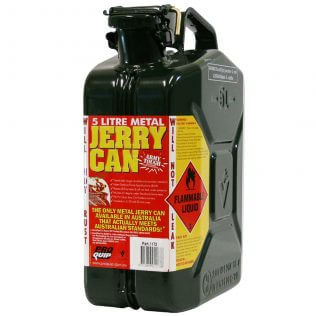 5L 2 Stroke 25:1 AFAC Metal Jerry Can Front