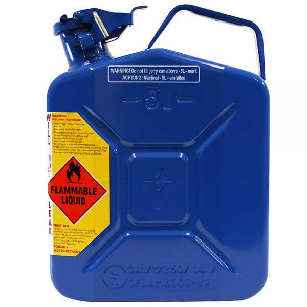 5L Chain & Bar Oil AFAC Metal Jerry Can Side