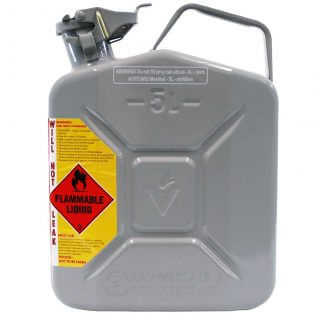 5L 2 Stroke 50:1 AFAC Metal Jerry Can Side