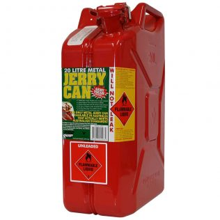 20L Unleaded AFAC Metal Jerry Can - Pro Quip International Front