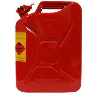 20L Unleaded AFAC Metal Jerry Can - Pro Quip International Side